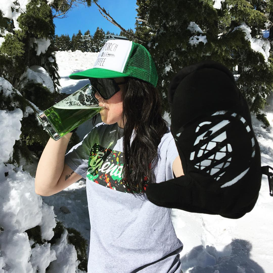 Use your luck to find snow and green beer this St Patrick's Day #grenadegloves