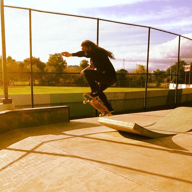 Adrian Da Kine--@adrian_da_kine boosting on the Da Kine.  #adriandakine #da_kine_skateboard #bonzing #california
