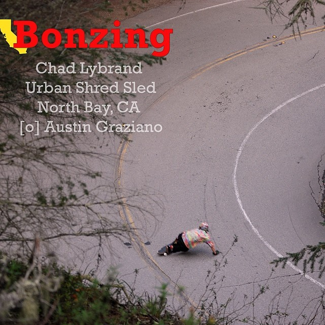Chad Lybrand--@ragnarsword Bonzing the mountains!  Download the Wallpaper Wednseday high resolution photograph to your phone, pad, pod or computer now by following the link in our instagram bio.  #chadlybrand #bonzing #skateboarding #downhill...