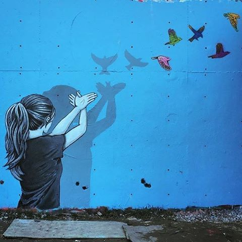 @seraphim_one • • Once you have tasted flight, you will forever walk the earth with your eyes turned skyward, for there you have been, and there you will always long to return. - da Vince • • #atx #austintx #texas #tx #spratxfamily #art #streetart...