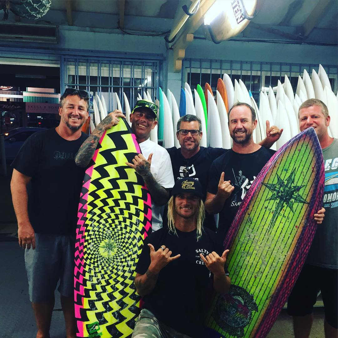 Christian Fletcher 3DFINS and Stuart surf shop gathering.#stuartsurfboards #3dfins #dimpletechnology #roadwarrior