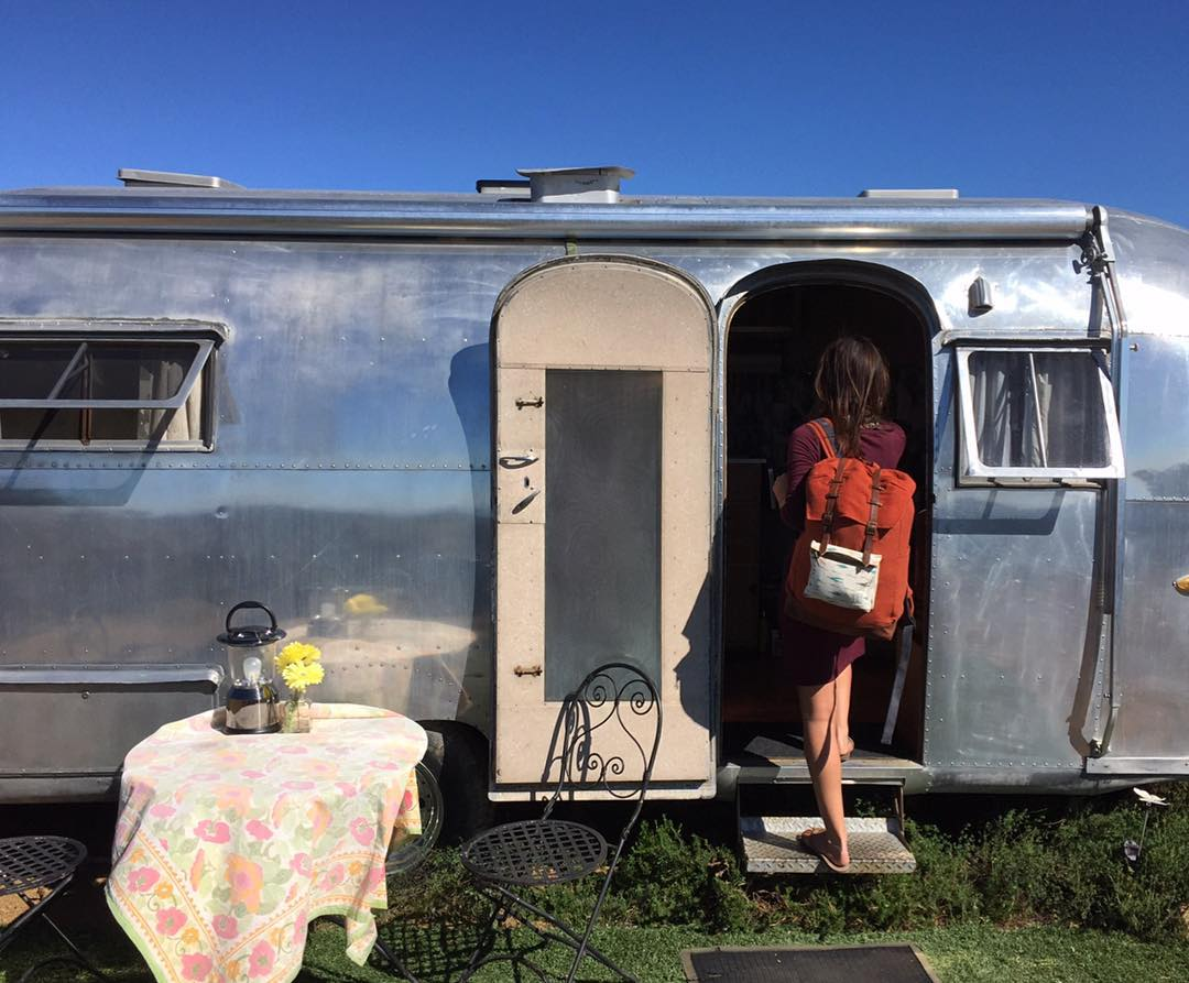 Who would you bring along for a weekend in this Topanga Canyon airstream?