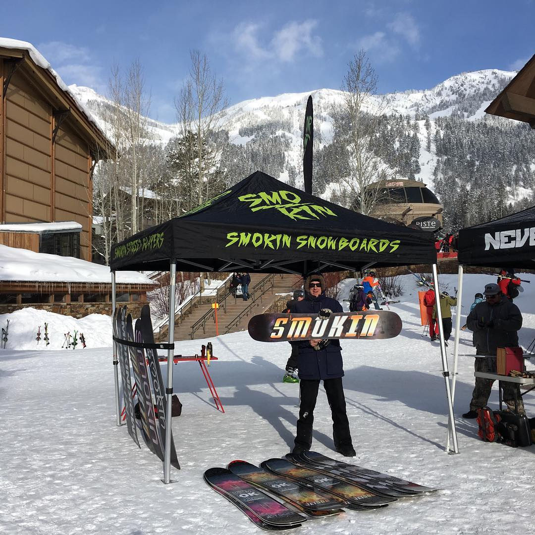 "Public demo day today @jacksonhole  we have got 42"" in the past 3 days #comeandfindoutwhatthehypesallabout , #weareOK 