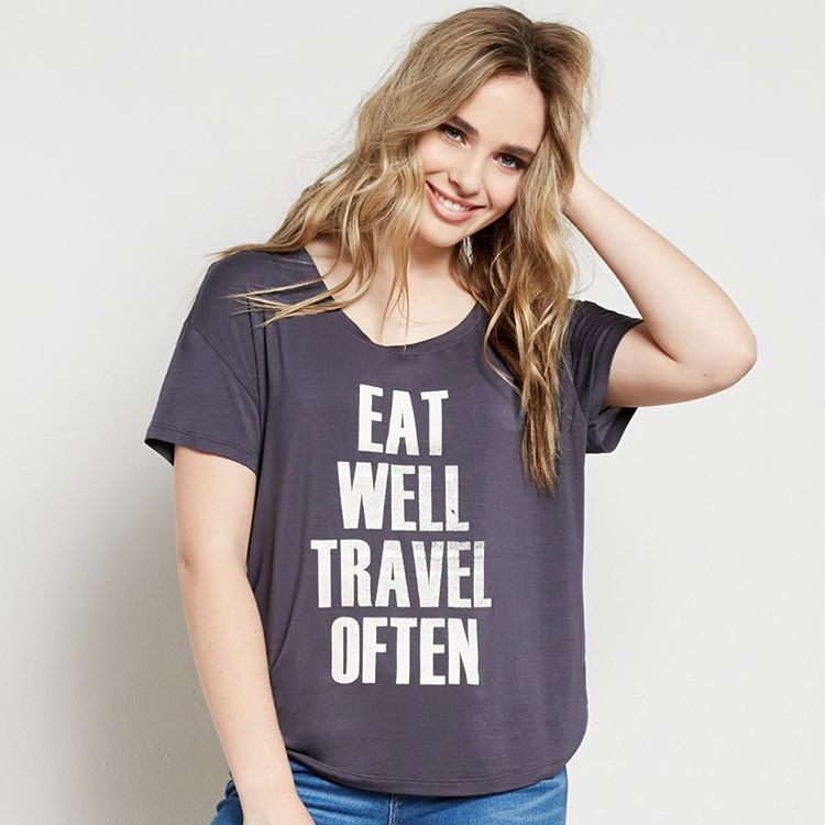 This shirt says it all..Enter our #EatWellTravelOften contest!! ✈️
