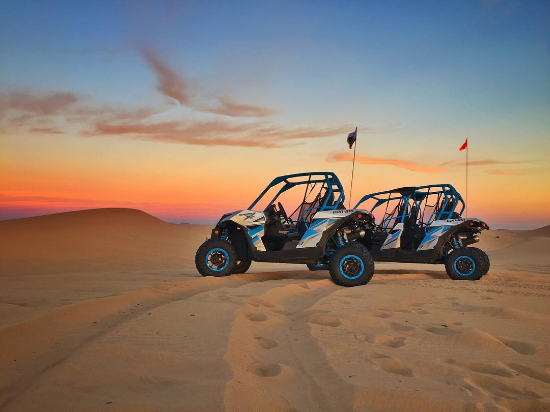 We took our new toys out to Glamis dunes with our buddy @wolfmate who showed us a thing or two about shredding side by sides.  @canamofficial #jasonellisisamadman #crazybogan
