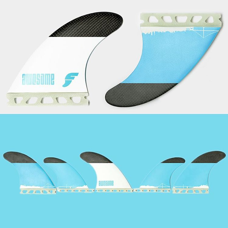 New batch - 99 $ for our 5 fin set !!! We decided to sell the fins only directly through our website. So we can offer the best price. Check them out on www.awesomesurfboards.com - link in bio / surf them as Thruster or Quad #awesome #awesomesurfboards...