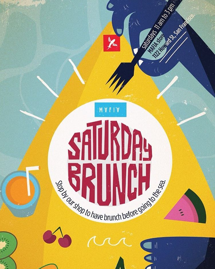 Starting this Saturday 3/19, in #SanFrancisco we are expanding our business hours from 11am - 3pm to host #brunch. Come by, hang out, and grab a bite before you head out to the #ocean! // coffee & food by @vivelatarte