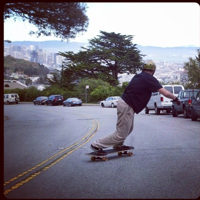 Spring has sprung in the SFC! Founder and owner of @bonzing Austin--@austinbonzing is out testing new wood.  #bonzing #sanfrancisco #shapers #artists