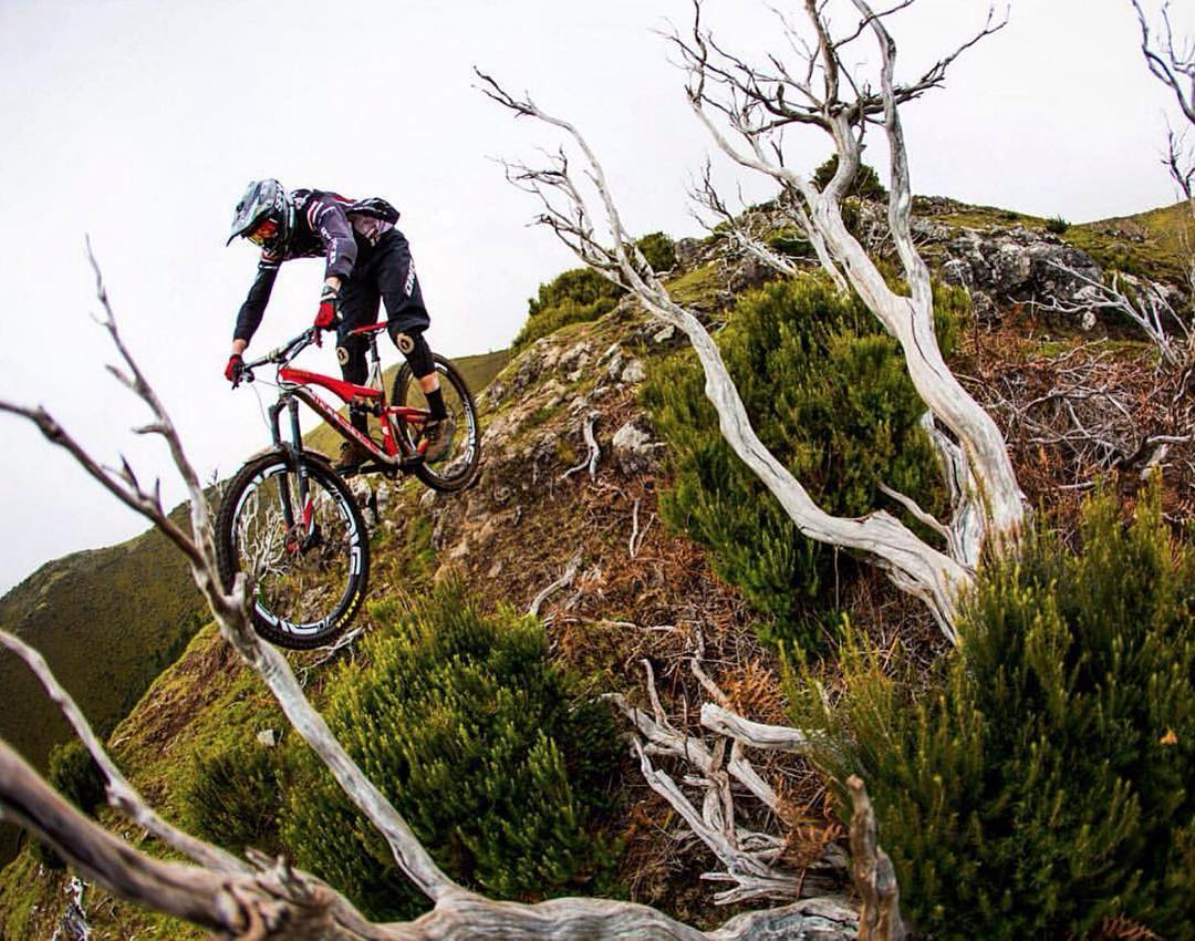 "#HappySaturday #Repost @jacobgibbinsphoto The legend ""Andrew Titley riding out in @freeridemadeira a few weeks back dodging dead trees and cows"" #mtb #madeira #SixSixOne #RageKnee #661Protection #ProtectFun"