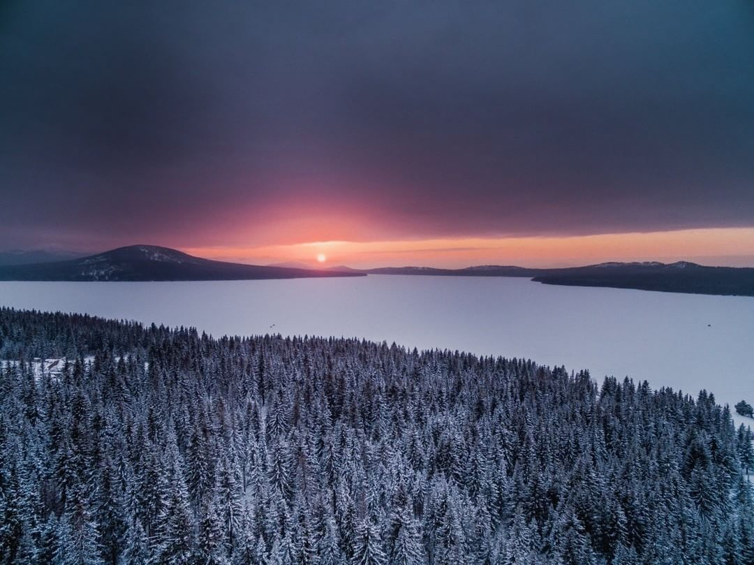 Sunset at Zyuratkul National Park  Credit: Maksim Tarasov | #Phantom #Russia  Use #IamDJI to share your aerial creations with us!