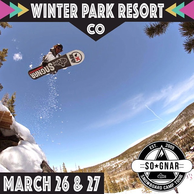With conditions ALL⚡️TIME in Colorado right now, the grand finale Snowboard Camp Tour stop next weekend @winterparkresort should be quite the good time!! We are dropping the price to $100 for the two-day riding experience. Rider: Louie ( @louiearrigoni...