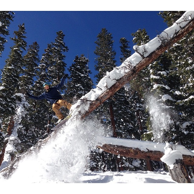 10 feet HIGH & rising on this bluebird pow-day with Pat ( @patmilbery ) at Loveland ( @lovelandskiarea ) today ~
