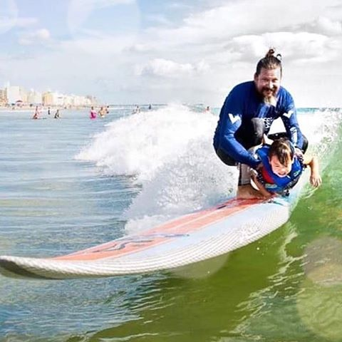 SurfHard GiveBack The @surfershealing mission is to enrich the lives of people living with autism by exposing them to the unique experience of surfing.  Though they serve thousands, that mission exists because of one child. Israel and Danielle...