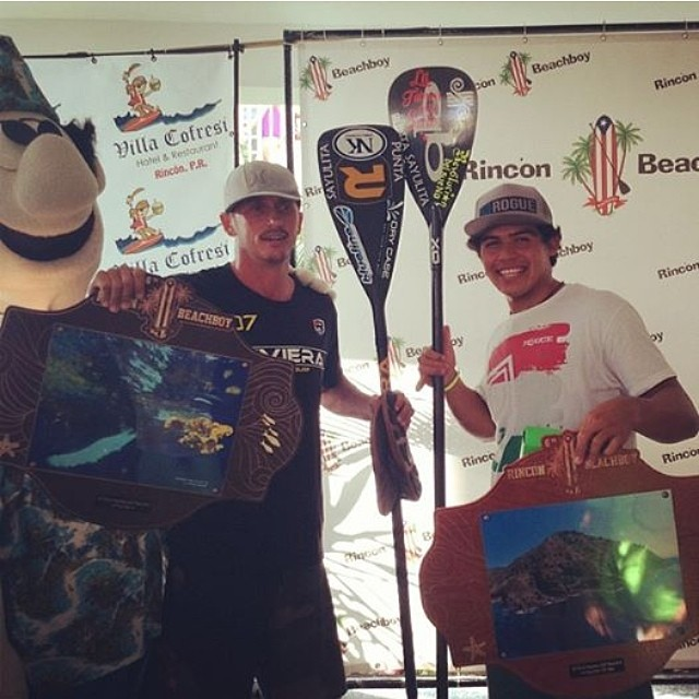 Way to go BICHO!!! Stoked!! Elite Team Rider Bicho Jaminez took 1st Place in the 12'6 Race and 3rd Place OVERALL at The Rincon Beachboy @bichosup  #sup #race #elite #1stplace #trainingpaysoff