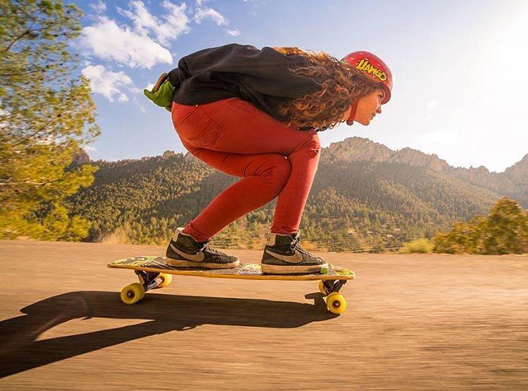 Go to longboardgirlscrew.com to check out Spanish rider @cristinaverdu's latest edit going fast and sliding some. Killer.  @melvin.herrmann video & photo.  #longboardgirlscrew #womensupportingwomen #skatelikeagirl #lgc #downhillskateboarding...