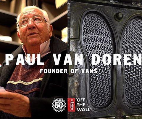 Mr Paul Van Doren, el fundador de @vans y creador de la mítica waflera.  #Since66