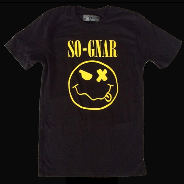 The GNARVANA Tee! Wear it Loud & listen to lots of Seattle's Best // link to purchase & shop in bio ~⚡️~ #sognar #payhomage