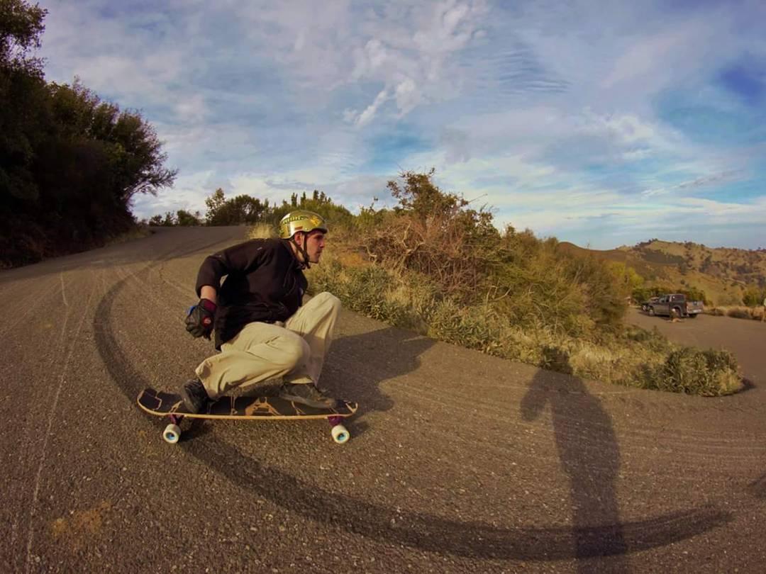 Bonzing Skateboards founder Austin Graziano--@austin_bonzing drifting through a familiar left!