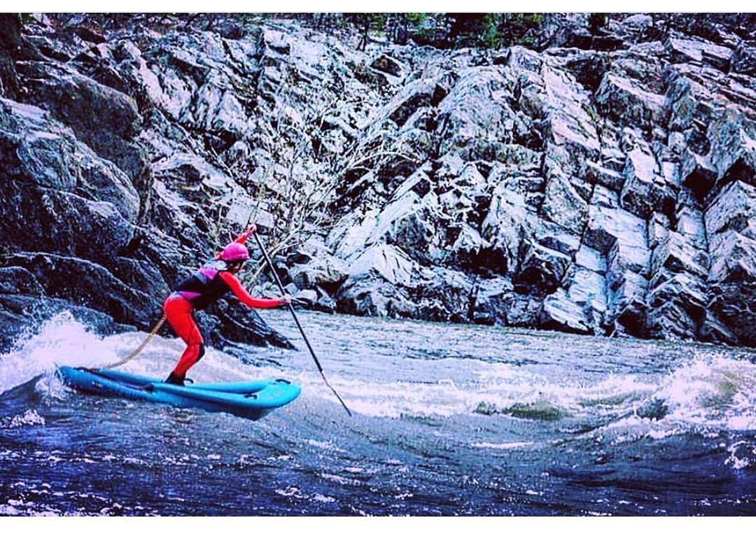 @potomacsurfer paddling the #HalaLuya on the Potomac River!