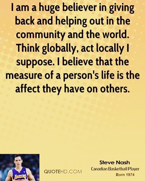 NBA player, Steve Nash has some impressive accolades including being an eight-time NBA All-Star and a seven-time All-NBA selection.  We are equally impressed with his accomplishments off the court. In 2001, Nash formed the @stevenashfdn. Through grants...