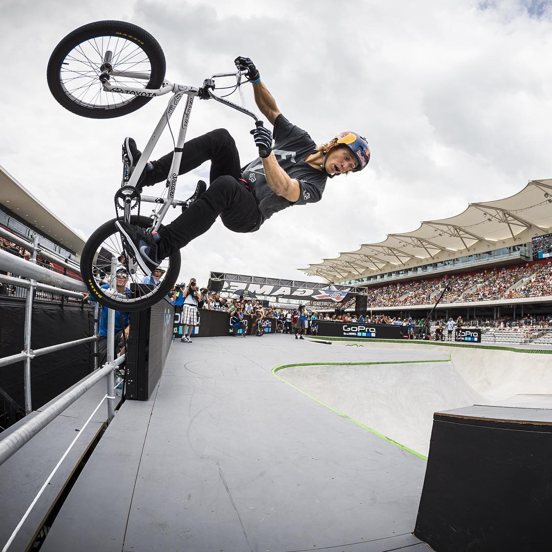 @ToyotaUSA athlete @DrewBezanson earned ❌ Games BMX Park silver in our inaugural year in Austin, Texas! #TeamToyota (