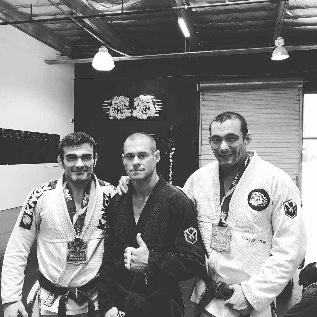 From the track to the matt. Training with my coaches @carlsongracieteam Tyno n Tom with medals from #PanAm #jiujitsu tournament. #Deegan38 #training to #win