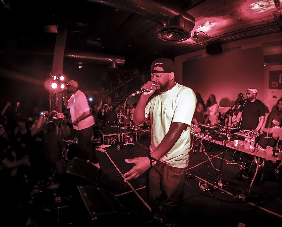 The inimitable, one and only @realghostfacekillah made the #NinjaTune x #GoPro party complete. He performed classics from the #WuTang days as well as his own hits. He even honored the late #ODB by having the audience hold up lights during a version of...