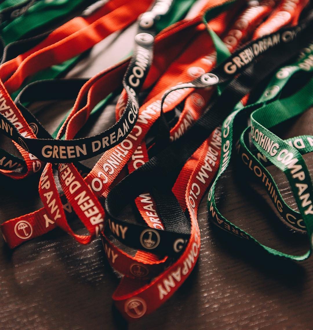 lanyards are now live @ greendreamcloco.com and will be available at the pop-up shop next month