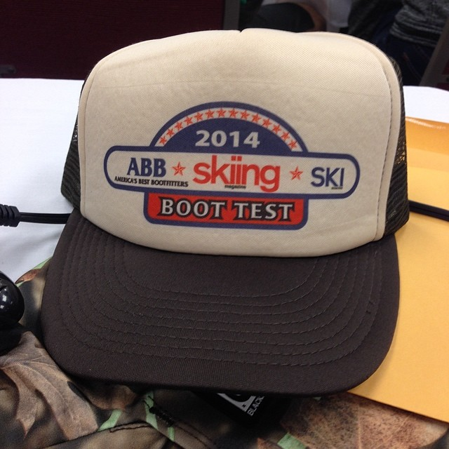 Stoked to be back at the @skiingmagazine and @skimagazine boot test. #masterfit