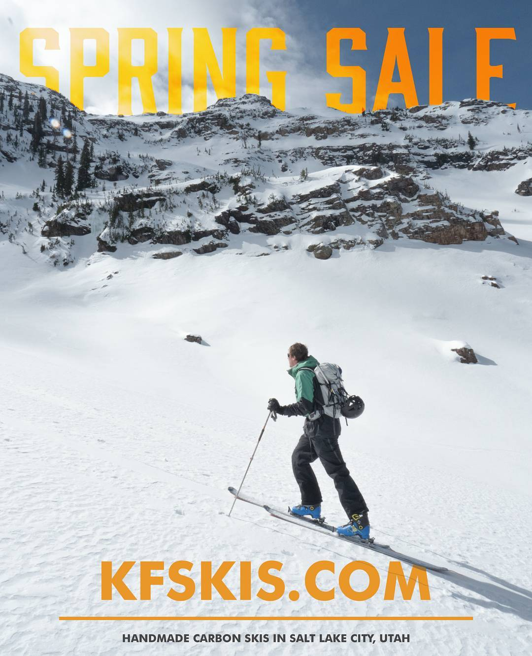 Still plenty of snow out there. Get yourself a pair of fresh, handmade carbon skis for up to 40% off! #kfskis |kfskis.com|