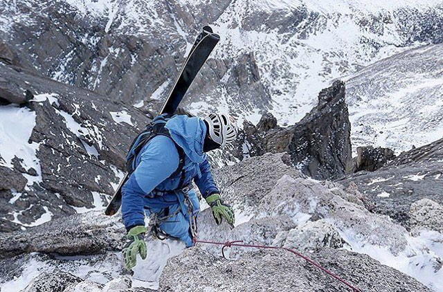 If you're not, you should be. Following the dudes behind the @ski.rmnp project. @aporzak1 and @dansohner gettin Mt. Meeker a while back. #MHMgear #PacksElevated