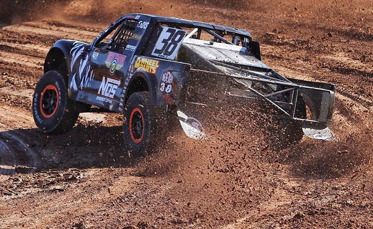 @BrianDeegan38 on #RAILS this past weekend @LucasOilOffRoad #OPENER.. What do you think of the new @NOSEnergyDrink truck? ||