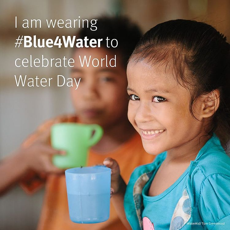 Today is #WorldWaterDay and we're going #Blue4Water to help raise awareness for the global water crisis. Take the opportunity to learn more about water issues and be inspired to take action to help make a difference.