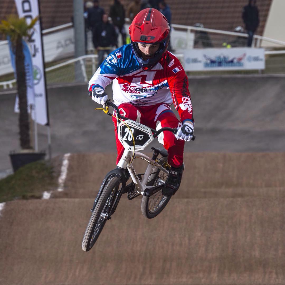 Junior St Etienne BMX racer Alexis Kuzma looking fast and on form at this past weekends French Cup - Congrats to all the riders who competed in St Quentin! #SixSixOne #661Protection #ProtectFun Photo's - Fabmx1.com