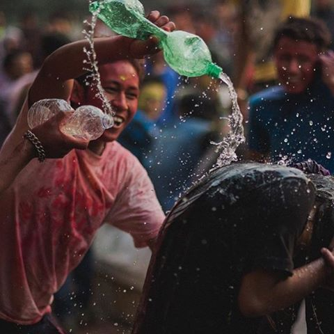 Happy Holi from Nepal! One of our favorite holidays which celebrates the beginning of Spring and promotes love and good over evil. The two day celebration basically consists of a huge water fight with lots of smiles and colored powder.