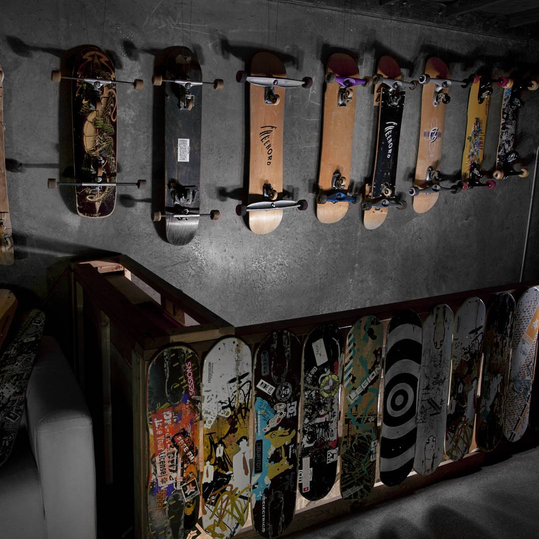 Who all has seen the Wall of Progression at Freebord Mfg. in person?  #Freebord #Snowboard #sf #downhill #sanfrancisco