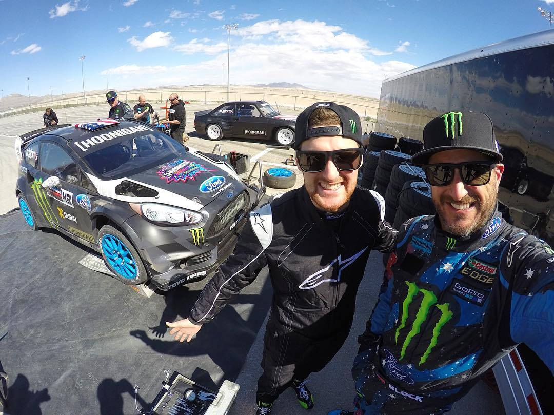 Out here in Las Vegas this week to get some rallycross seat time - since I haven't raced in over 4 months! Plus, my 2016 @FIAWorldRX teammate @AndreasBakkerud is out here in Vegas as well to get a feel for what an @MSportLTD built Ford Fiesta drives...