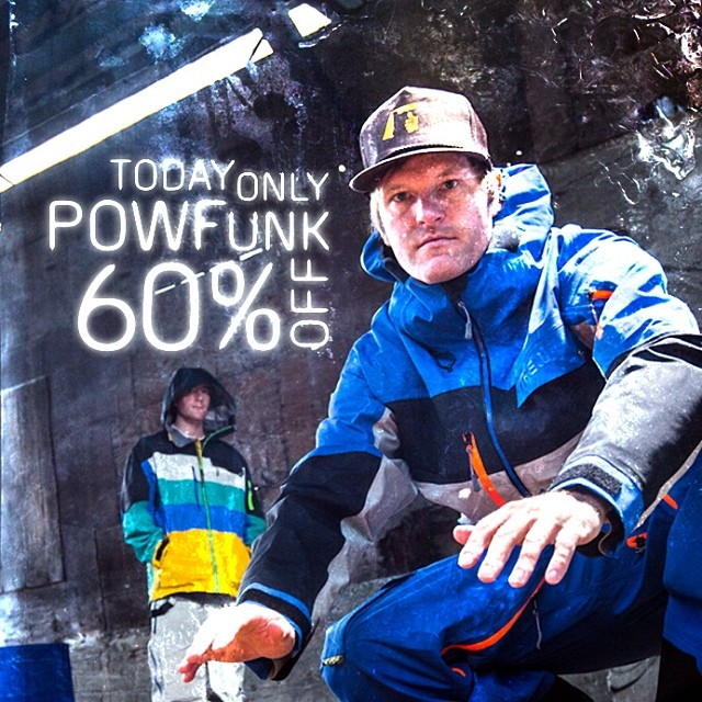 #flashsale today at www.trewgear.com!  Pow Funks are 60% off. #nowmorethanever