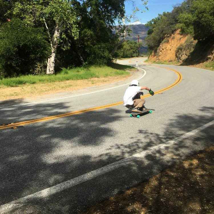 @nolankramer out touring the west coast and went for a rip on a California classic on the Keystone this afternoon. (Photo by @jamestwelve) #dblongboards #explorecalifornia #downhillskateboarding #longboard #dbkeystone