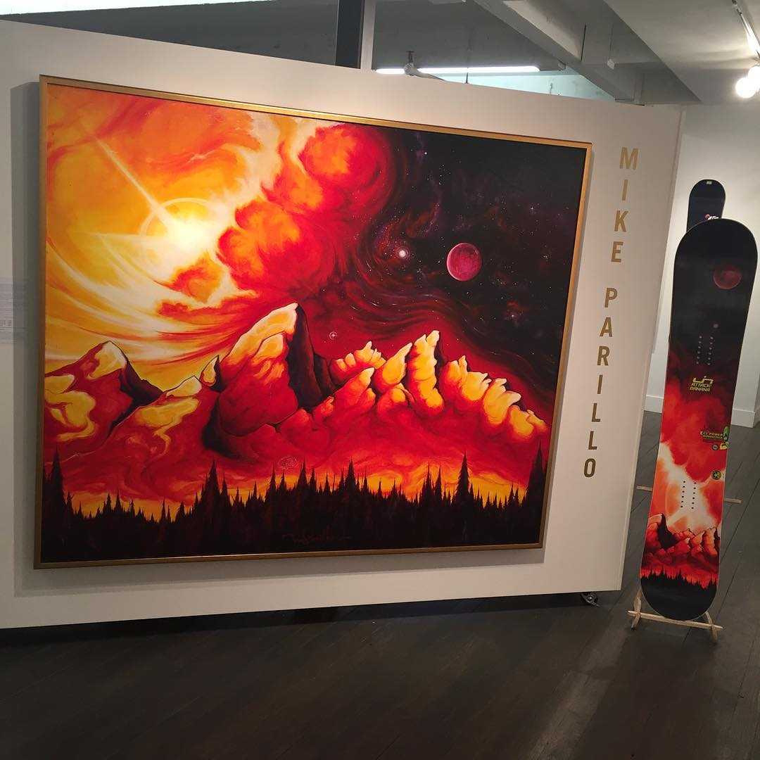 Does art mirror life or does life mirror art? #legacyofdisruption #thelegacyproject  The Red Tetons by @mikeparillo  #asymbol #asymbotart #mikeparillo