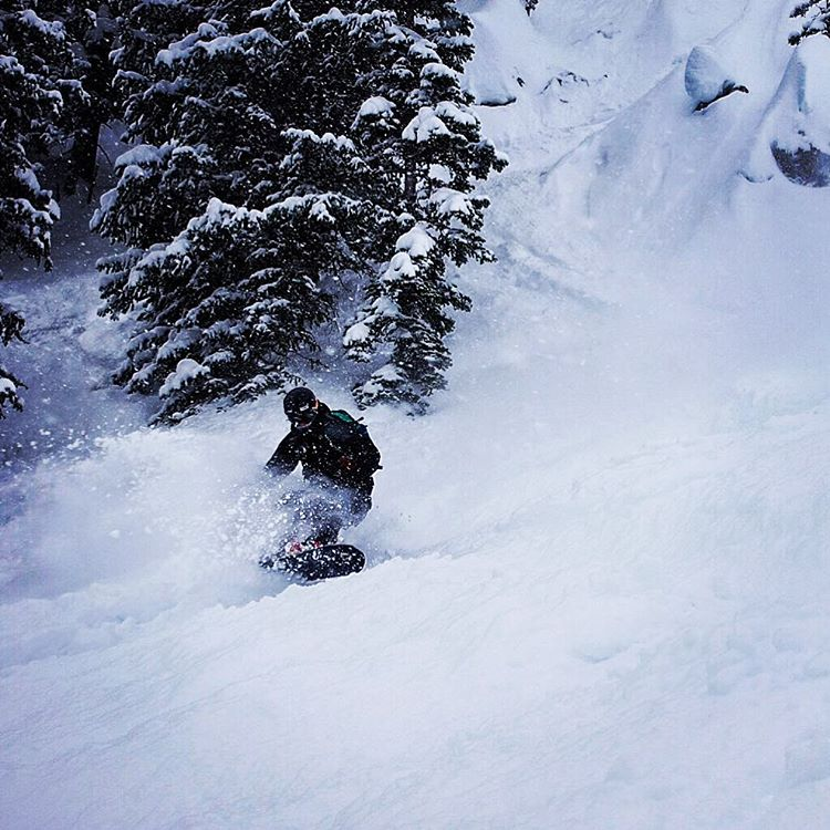 Photographer @sethbeckton enjoying the deep pow here in @jacksonhole during the @jhpowwow. #avalon7 #liveactivated #snowboarding www.followthestoke.com