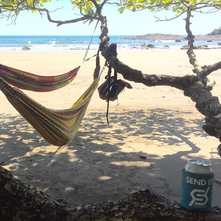 Costa Rica vacation! #justsendit #WhoaBrah #surfing #costarica #hammock #surf #beer #beerstagram #vacation