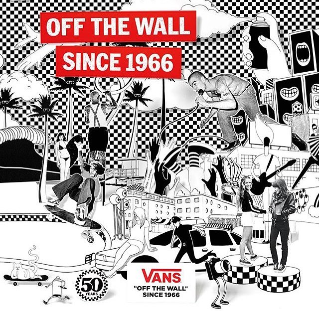 """El 16 de marzo cumplimos 50 años """"off the wall"""". 50 años promoviendo expresiones creativas de jóvenes por todo el mundo. ¿Cuál es la tuya? #since66"""