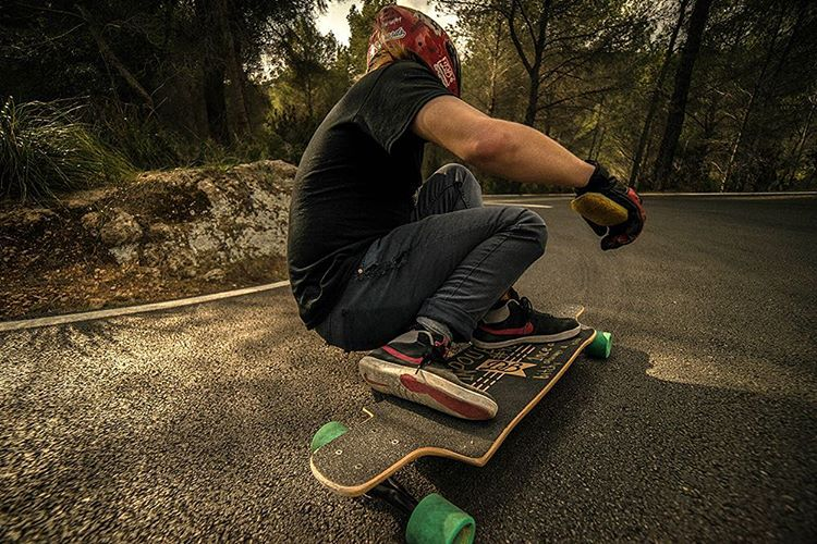 """@toni_conte out for a rip on the Contra 35.5"""". Checkout the blog post in the link in our bio for more information on this new board available in two sizes. (Photo by Ruben @rubenpriestley) #dblongboards #dbcontra #longboard #skateeverydamnday..."""