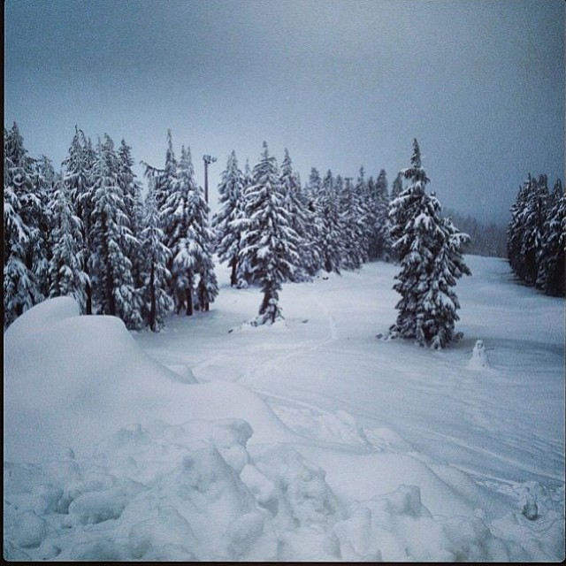 Well I guess you can say winter is here in the #PNW. Over 2 feet have dropped on #MtHood recently. This is a #regram shot from @timberlinelodge  #POW #KeepDumping