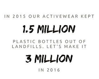 Plastic bottles ➡️ activewear ♻️