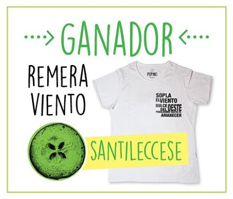 FELICITACIONES @santileccese!!!! Sos el ganador de la Remera #Viento!!!!