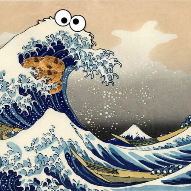 #Sea is for #Cookie —  We're all about Colabs including  Sesame Street's Cookie Monster  X  The Great Wave of Kanagawa