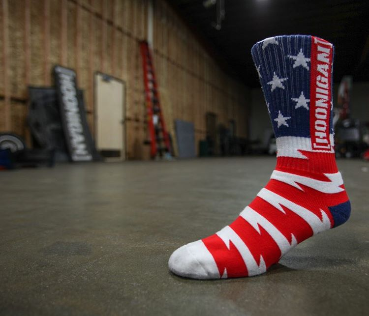 Get your feet set up proper with our Stars and Stripes. Available now on #hooniganDOTcom.