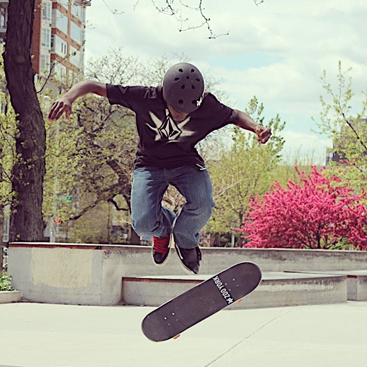 Spring is here and we're getting stoked to skate! #stokedskateboarding #spring @zooyorkofficial @volcom